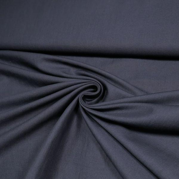 Baumwolle-Viskose Twill uni - marineblau