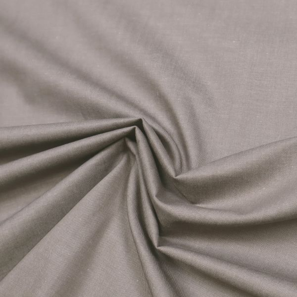 Baumwollstoff Jeans-Optik Melange - taupe/weiss