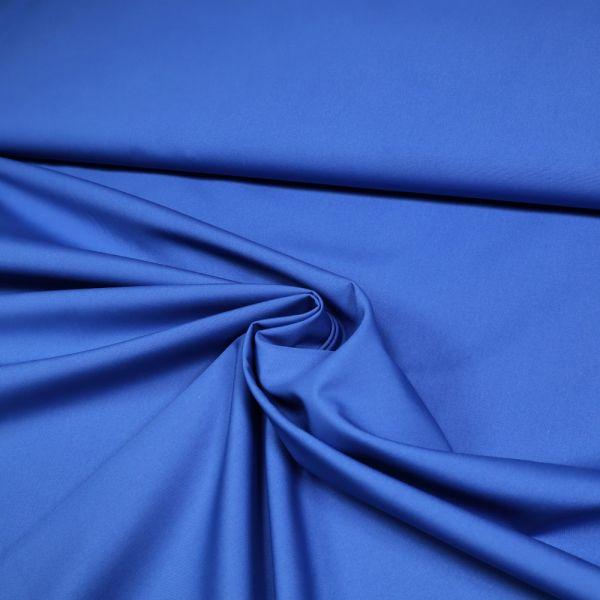 Viskose-Polyester-Mix uni - blau (2.Wahl)