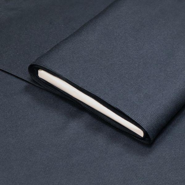 Rippen- Bündchenstoff Schlauchware uni - dunkelblau