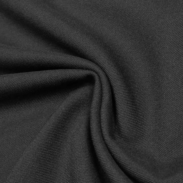 Wollstoff-Mix mit Köperbindung uni - schwarz