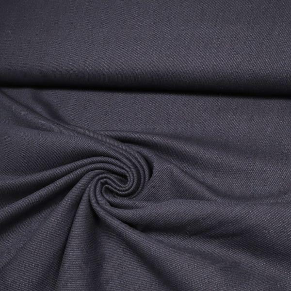 Baumwollstoff Melange & diagonal Rippe - schwarz/nachtblau