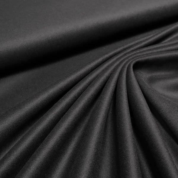 Wollstoff-Mix uni - schwarz
