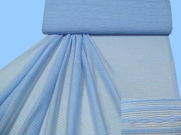 Blusen- und Kleiderstoff gemustert - hellblau