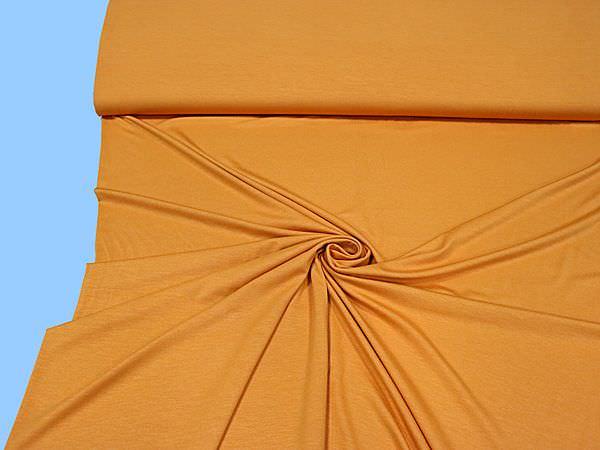 Viskosejersey uni - orange