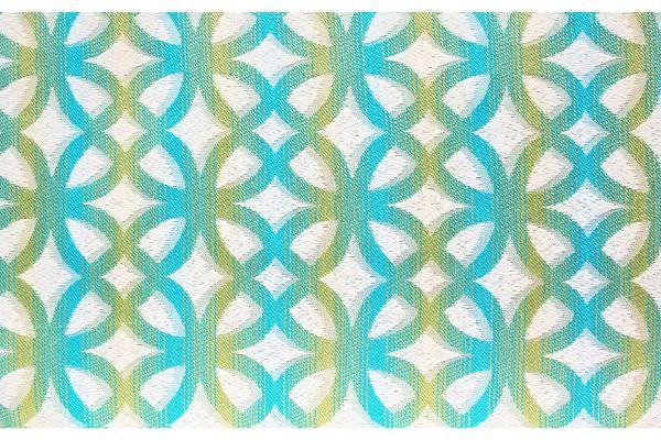 Jacquard Stoff mit blau grünem farbverlauf in abstrakter stilrichtung