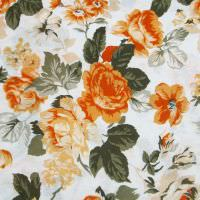Baumwolljersey Rosen - weiss/apricot/orange/lachs/khaki