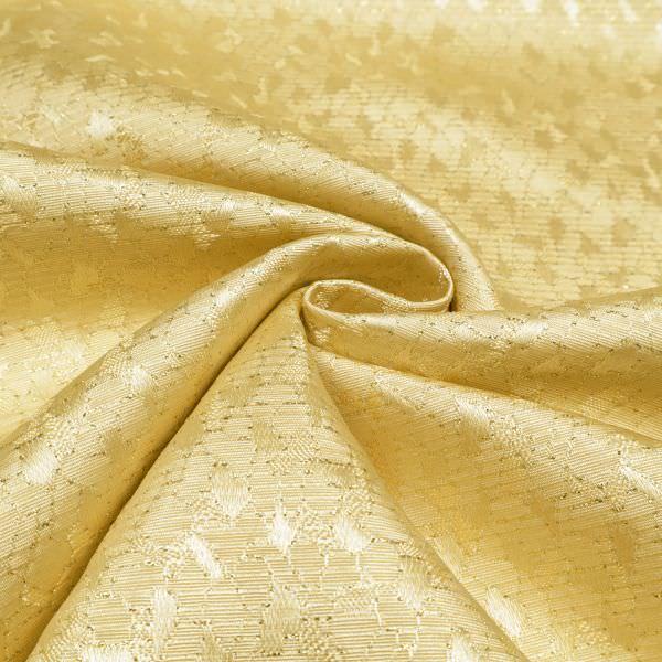 Lurex Jacquard Stoff mit Muster - goldfarbig