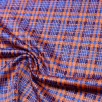 Stretch Feinstrick Karo - orange/königsblau/bordeaux