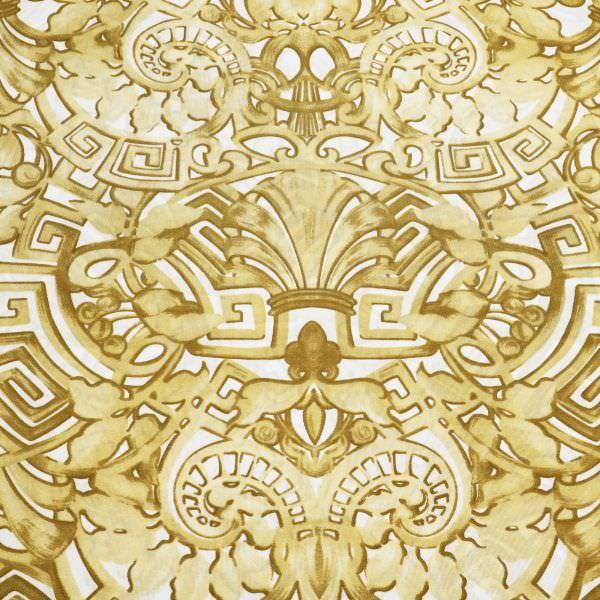 Slinky-Jersey Ornamente - wollweiss/beige/goldbeige