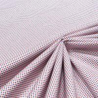 Baumwoll- Popeline kleines Muster - weiss/rot/blau