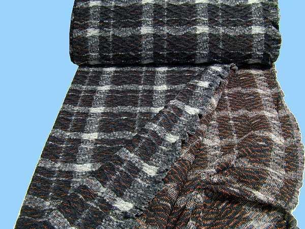 Strick - schwarz/grau/terrakotta