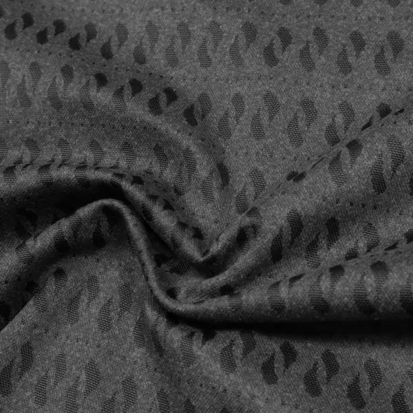 Baumwoll- Stretch Feinstrick Retro - anthrazit/schwarz