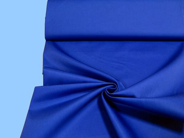 Baumwollmischung Köper - royalblau