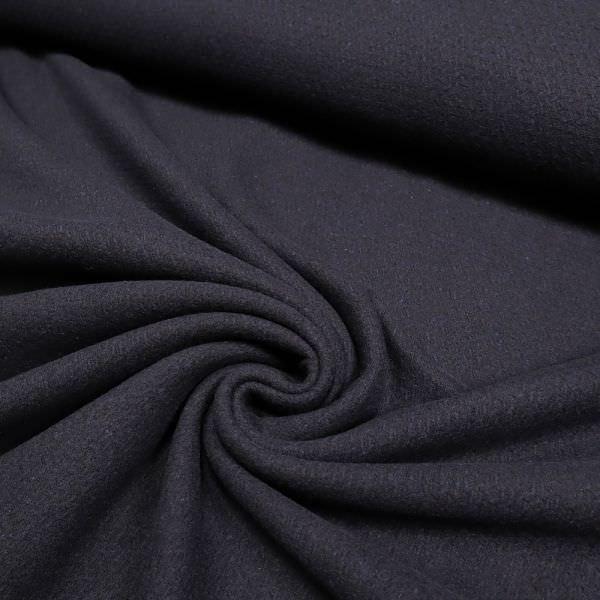 Wollstoff-Mix mit Struktur - nachtblau (Reststück - 5,6m)