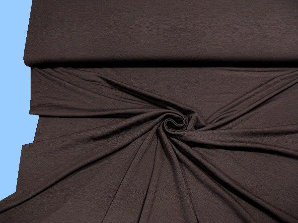 Jersey uni - dunkelbraun