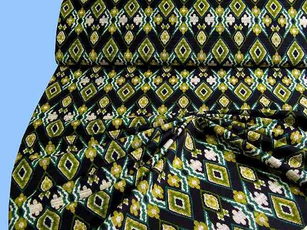 Baumwollmischung - schwarz/gelb/grün
