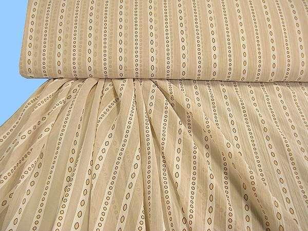 Chiffon Streifen - beige/braun