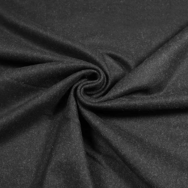 Wolltuch Melange - schwarz (Reststück - 2,9m)