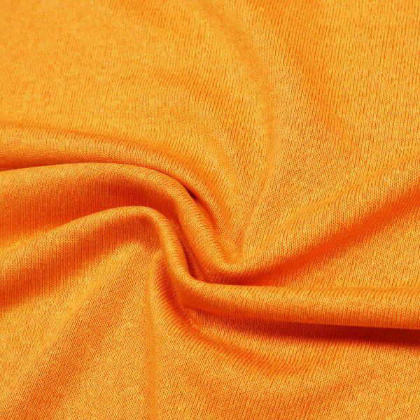 Baumwoll- Feinstrick Melange - orange/rot (2.Wahl)