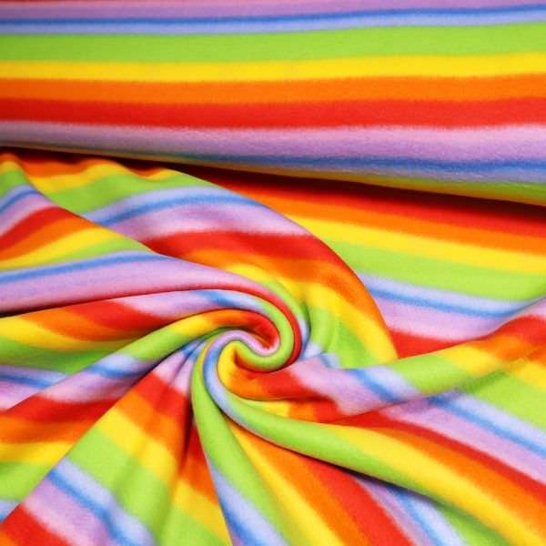 Polar Fleece Rainbow - gelb/orange/rot/flieder/grün/blau