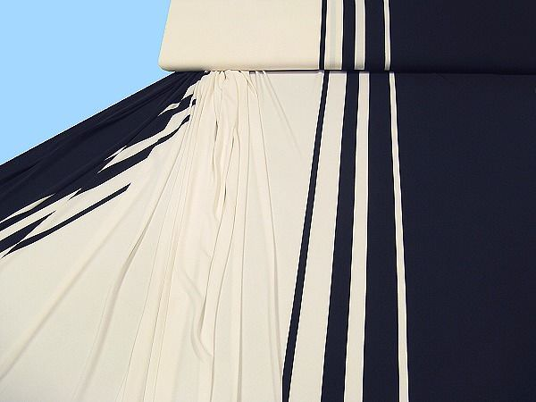 Jersey - wollweiss/schwarz