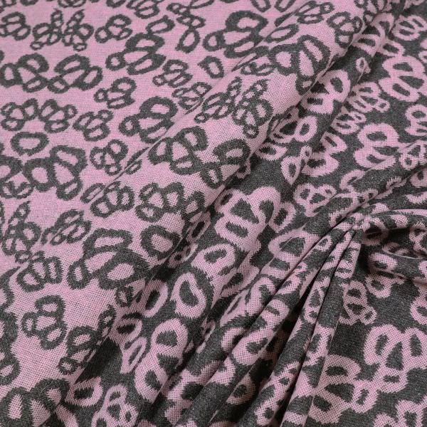 Jacken- und Mantelstoff mit Muster - altrosa/anthrazit