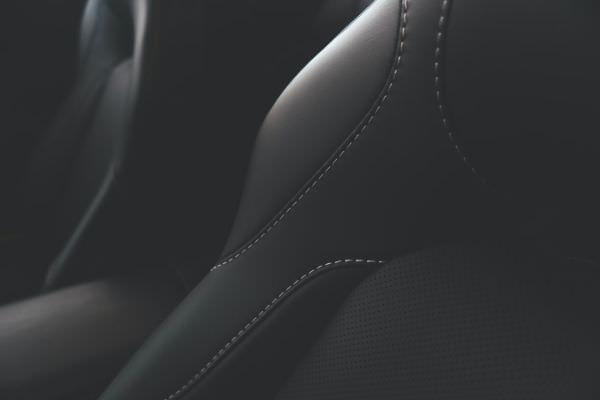 Kunstleder Ausstattung im Inneren eines Automobils