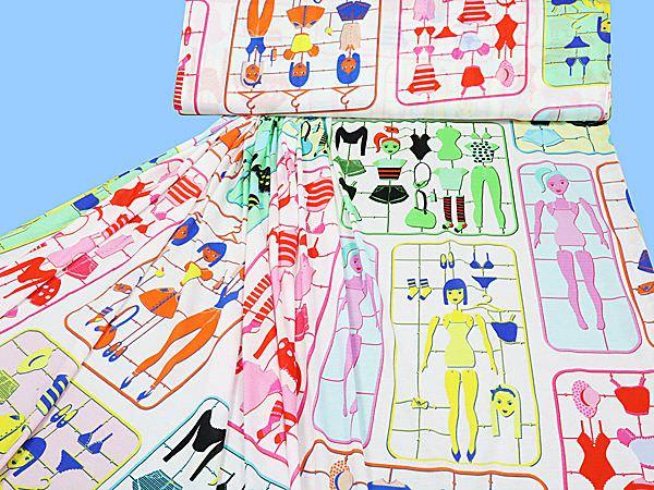 Viskosejersey mit Kindermotiven - weiss/multicolor