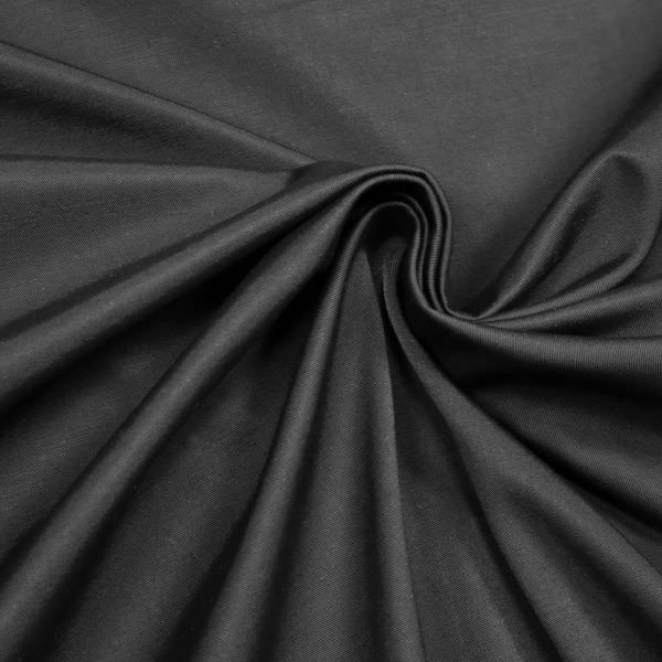 Doubleface Outdoor- Jackenstoff uni - schwarz