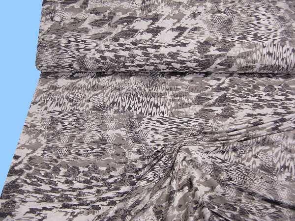 Feinjersey - braun/grau/wollweiss