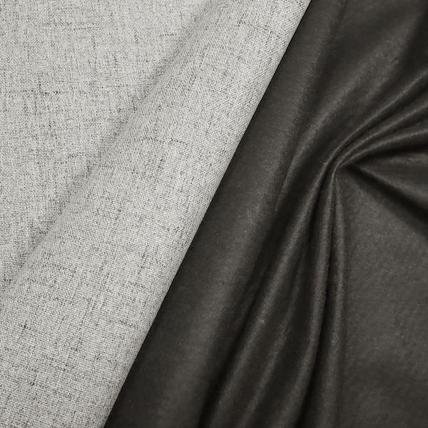 Polsterstoff / Möbelstoff grob gewebt & meliert - wollweiss/schwarz