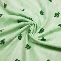 Baumwolle-Polyester-Mix Kaktus & gemustert - mintgrün/grün/schwarz