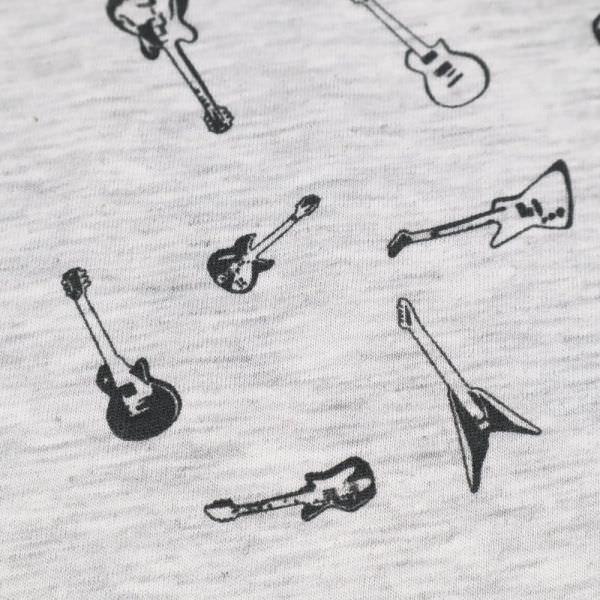 Viskosejersey mit Gitarren-Motiv - wollweiss/grau/schwarz