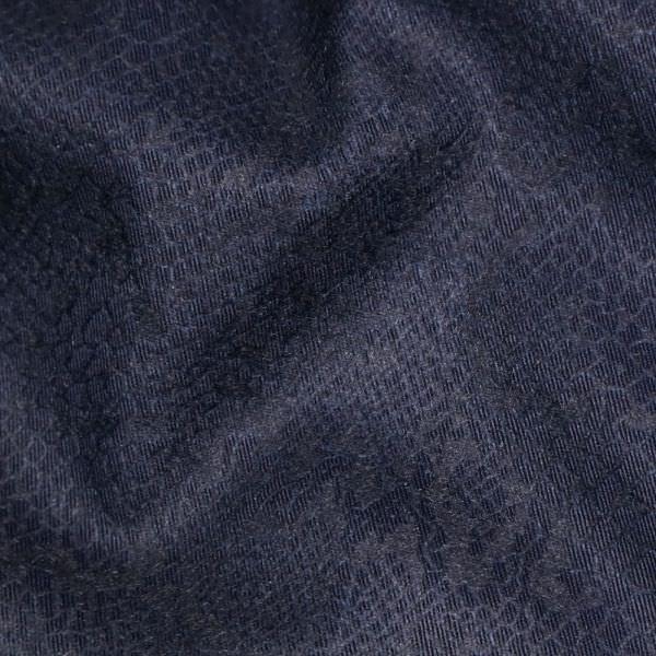 Baumwollstoff mit Schlangenmuster - dunkelblau