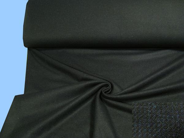 Wollstoff (Mischung) - schwarz/nachtblau