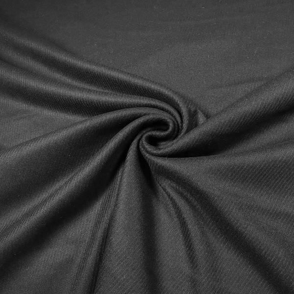 Wollstoff mit Köperbindung uni - schwarz