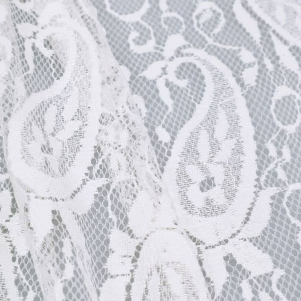Spitze mit Paisleymuster - wollweiss