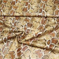 Lederimitat Schlangenhaut-Optik - beige/braun/schwarz