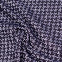 Stretch Feinstrick Hahnentritt - jeansblau/hellblau