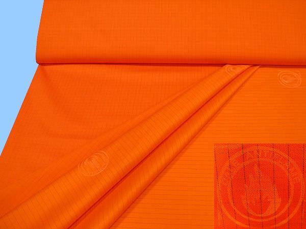 Schwer entflammbarer Baumwollstoff mit Karomuster - orange