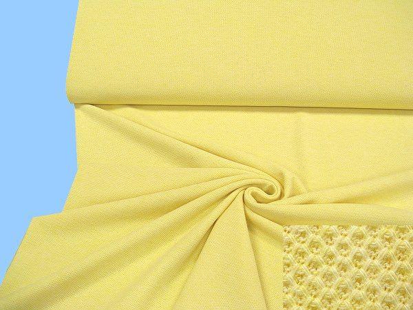 Pikee- Jersey - gelb/weiss