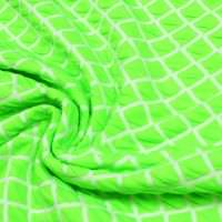Doppelgewebe Jersey Neon Raute - neon grün/wollweiss