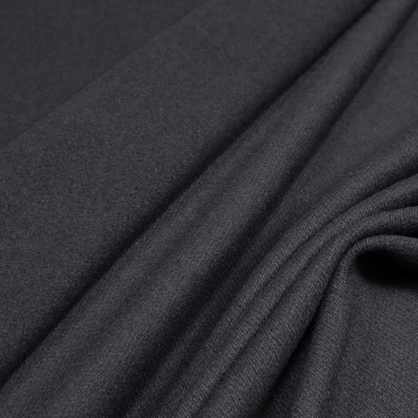 Mantelvelour uni - schwarz