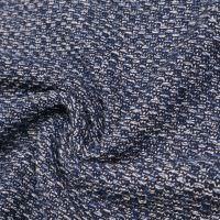Baumwoll- Strickstoff Melange grob - marineblau/wollweiss - Extra breit!
