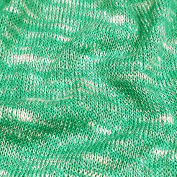 """Strick """"Melange"""" - grün/weiss"""