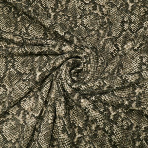 Feinstrick mit Schlangenmuster - beige/braun/anthrazit