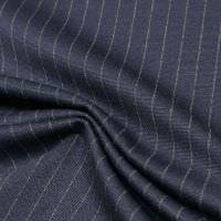 Punto Milano  Power-Stretch Jersey Nadelstreifen - marineblau/beige