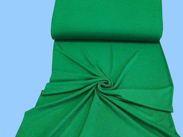Rippenstrick - Bündchen uni - grün