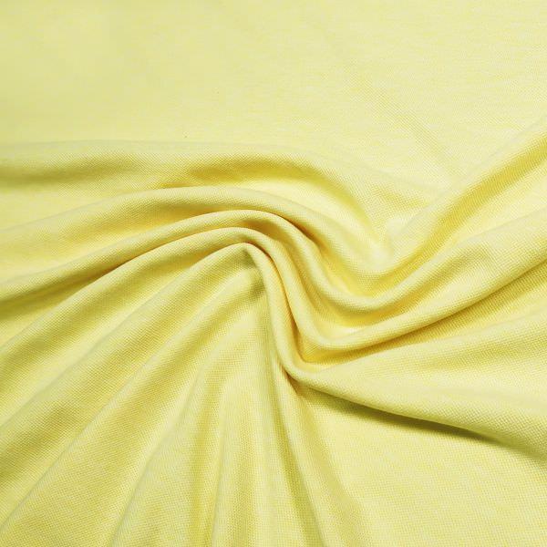 Piqué Baumwolljersey Melange - hellgelb/gelb Extra breit !